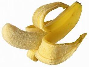 ちんこのように皮を剥いたバナナ